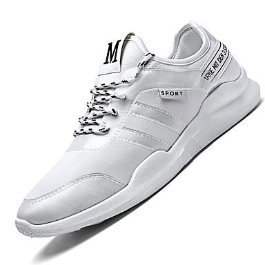 Men's Shoes Net Summer Fall Comfort Light Soles Sneakers Lace-up For Athletic Casual Black Light Grey