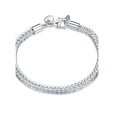 Women's Crystal Chain Bracelet - Silver Plated Friends Punk, Rock, Fashion Bracelet Silver For Christmas Gifts Wedding Party