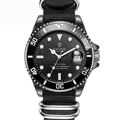 voordelige Herenhorloges-Heren mechanische horloges Zwart / Groen Kalender Creatief Analoog Dames Amulet Luxe Klassiek Informeel - Wit Zwart Groen / Roestvrij staal