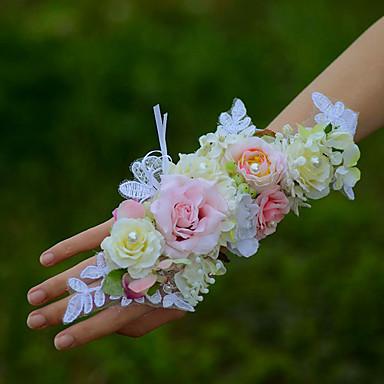 Wedding Flowers Wrist Corsages Wedding Cotton 1.97