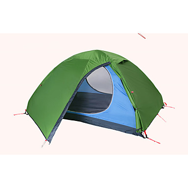 2 persons Tent Fold Tent Double Rain-Proof Dust Proof Foldable 1500-2000 mm for Camping / Hiking Outdoor CM One Room Nylon Polyester