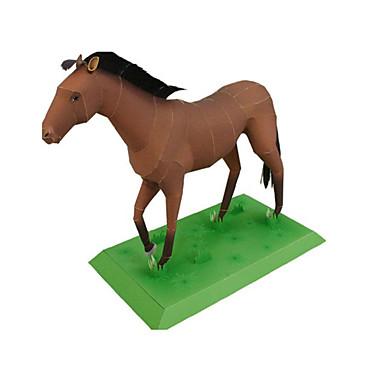 voordelige 3D-puzzels-3D-puzzels Bouwplaat Modelbouwsets Koets Paard Dieren DHZ Simulatie Klassiek Unisex Speeltjes Geschenk