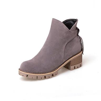 Women's Boots Gladiator Fashion Boots Fall Winter Leatherette Casual Dress Tassel(s) Zipper Chunky Heel Black Beige Gray 2in-2 3/4in