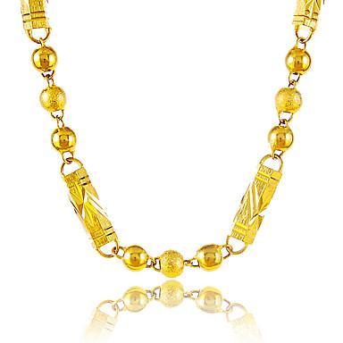 Nyakláncok - Arannyal bevont Golyó hölgyek, Egyedi, Vintage Arany Nyakláncok Ékszerek Kompatibilitás Parti, Különleges alkalom, Gratulálok