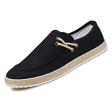 Homens sapatos Couro Ecológico Primavera Outono Solados com Luzes Conforto Mocassins e Slip-Ons Cadarço para Casual Preto Bege Cinzento