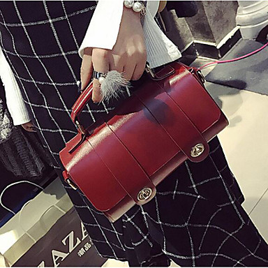 Women Bags All Seasons PU Shoulder Bag for Casual Outdoor Clover Brown Wine