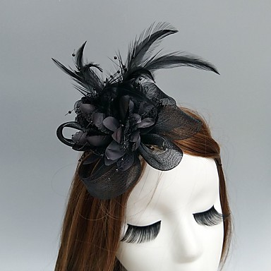 cheap Party Accessories-Net Fascinators / Hats / Headwear with Floral 1pc Wedding / Special Occasion Headpiece