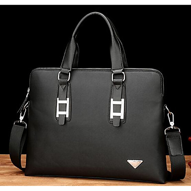 Men Bags All Seasons Cowhide Briefcase for Casual Outdoor Blue Black
