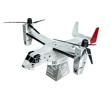 Quebra-Cabeças 3D Maquetes de Papel Artesanato de Papel Brinquedos de Montar Aeronave Lutador Helicóptero Simulação Faça Você Mesmo