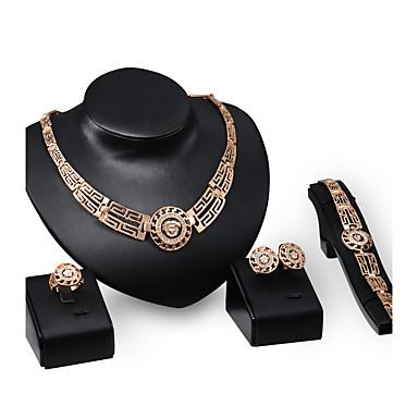 Mulheres Conjunto de jóias - Strass, Chapeado Dourado Importante, Personalizada, Luxo Incluir Dourado Para Festa Ocasião Especial Housewarming