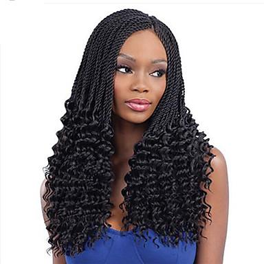 Hajfonás Göndör / Horgolás Twist Zsinór / Emberi haj tincsek 100% kanekalon haj / Kanekalon 30 gyökér / csomag, 34 Gyökerek Hair Zsinór Ombre Napi