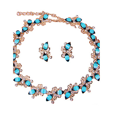 Women's Jewelry Set - Classic, Bohemian, Fashion Include Necklace / Bracelet Bridal Jewelry Sets Blue For Christmas Wedding Party / Special Occasion / Anniversary / Birthday / Housewarming