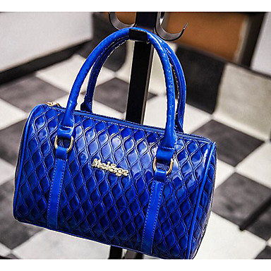 Women Bags All Seasons PU Shoulder Bag for Casual Outdoor Blue Black