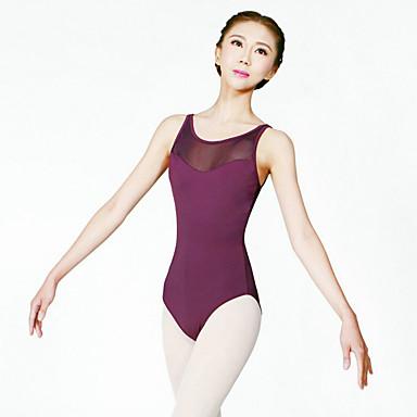 Ballet Leotards Women's Training Nylon 1 Piece Sleeveless High Leotard