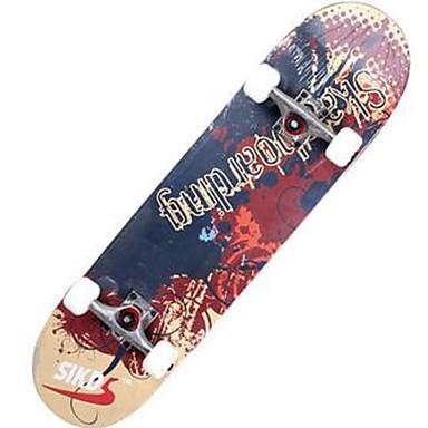 31 Inch komplett Skateboards Lettvekt Maple 608ZZ-Svart Rød Grønn Blå Mønster