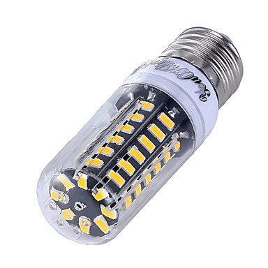 5W 500lm E27 Lâmpadas Espiga 56 Contas LED SMD 5733 Branco Quente Branco Frio 220-240V
