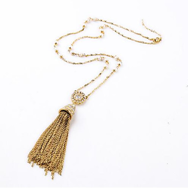 Women's Pendant Necklaces Alloy Personalized Tassel Bohemian Fashion Jewelry For Casual Holiday Going out