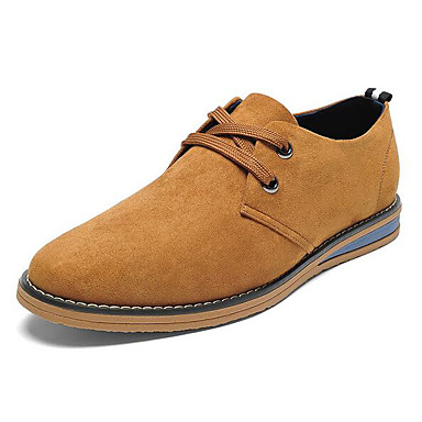 Men's Shoes Cowhide Spring Fall Comfort Oxfords For Casual Earth Yellow