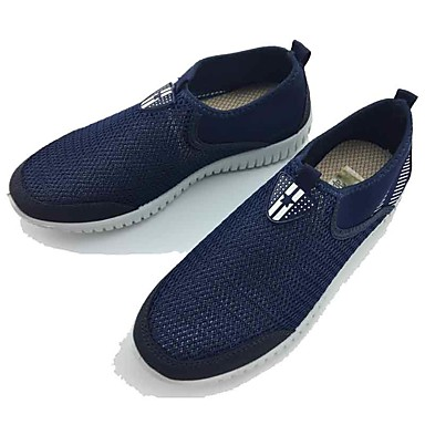 Men's Shoes Tulle Spring Summer Comfort Loafers & Slip-Ons Walking Shoes for Casual Outdoor Gray Blue
