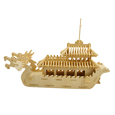 3D Puzzles Jigsaw Puzzle Wood Model Model Building Kits Toys Ship 3D Simulation DIY Wooden Wood Not Specified Pieces