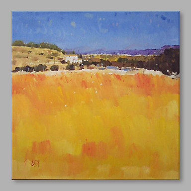 Hand-Painted Landscape Square, Artistic Canvas Oil Painting Home Decoration One Panel