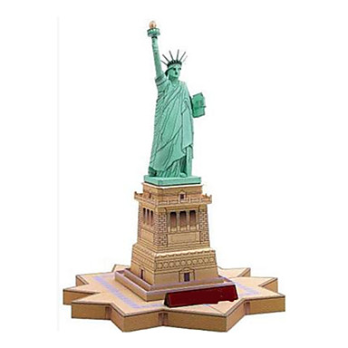 3D Puzzle Paper Model Paper Craft Model Building Kit Tower Famous buildings Statue Of Liberty DIY Classic Unisex Gift