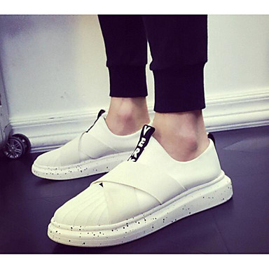 Women's Shoes Tulle Spring Fall Comfort Loafers & Slip-Ons For Casual White Black Black/White