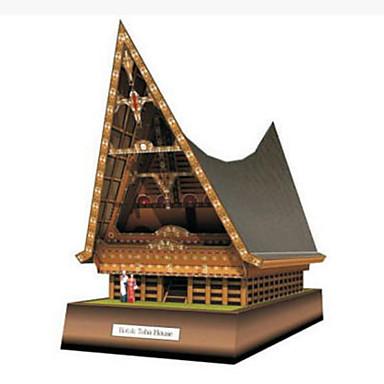 3D-puslespill Papirmodell Modellsett Papirkunst Leketøy Kvadrat Kjent bygning Hus Arkitektur 3D GDS Hardt Kortpapir Unisex Deler