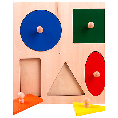 Ferramentas de Ensino Montessori Blocos de Construir Quebra-Cabeça Jogos de Madeira Brinquedo Educativo Quadrada Educação Crianças Para