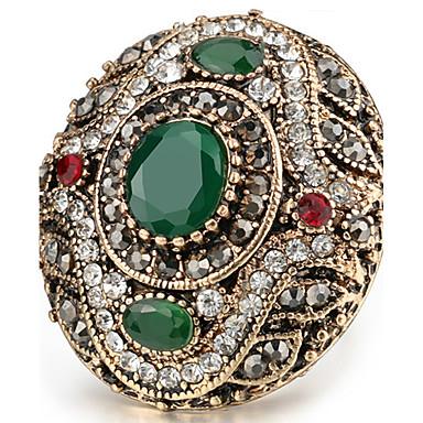 Χαμηλού Κόστους Μοδάτο Δαχτυλίδι-Γυναικεία Κρυστάλλινο Οβάλ HALO Τεχνίτης Δακτύλιος Δήλωσης Δαχτυλίδι δαχτυλίδι αντίχειρα Ρητίνη Στρας Μοντέρνο κυρίες Εξατομικευόμενο Unusual Ασιατικό Πολυτέλεια Μοδάτο Δαχτυλίδι Κοσμήματα