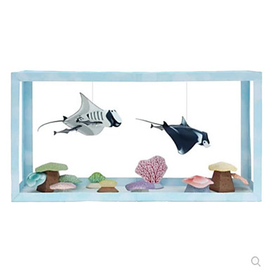 3D Puzzles Paper Model Paper Craft Model Building Kit Fish Ghost Simulation DIY Classic Unisex Gift