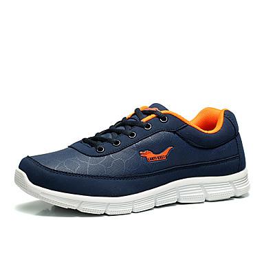 Homens sapatos Tule Primavera / Verão Solados com Luzes Tênis Preto / Azul Escuro / Cinzento