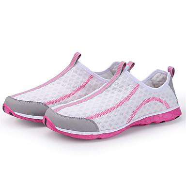 Naisten Kengät Tyll Kevät Kesä Valopohjat Comfort Urheilukengät Kävely Tasapohja varten Kausaliteetti ulko- Valkoinen