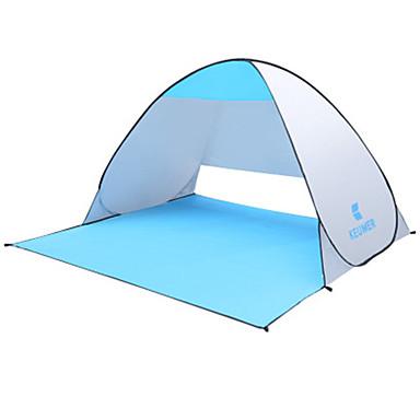 رخيصةأون مفارش و خيم و كانوبي-KEUMER 2 الأشخاص خيمة للشاطئ في الهواء الطلق مكتشف الأمطار مكتشف الغبار طبقة واحدة خيمة التخييم 1500-2000 mm إلى التخييم والتنزه بولي / قطن جلد البولي يوريثان البوليستر