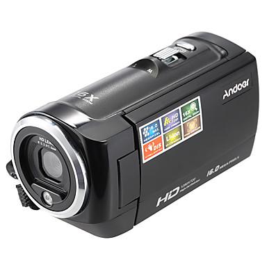 andoer® lcd screen hd 16mp 16x zoom digital 720p 30 fps anti-shake gravador de vídeo digital dv camera camcorder dvr
