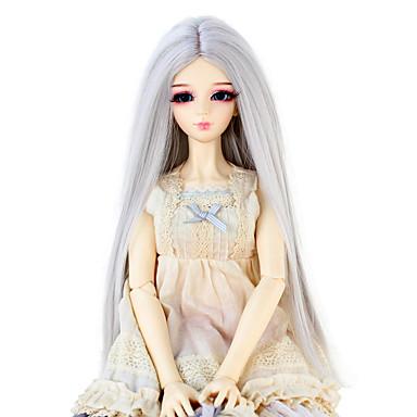 Perucas sintéticas Liso Mulheres boneca peruca Cabelo Sintético
