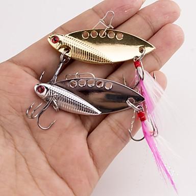 1 stk Metall Agn Vibrering Sluk Metall Agn Vibrering Metall-legering Søfisking Spinne Trolling- & Båtfiskeri Lokke Fiske Bass Fiske