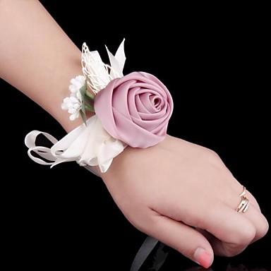 Bouquets de Noiva Buquê de Pulso Casamento Ocasião Especial Seda Metal Cetim 2.36