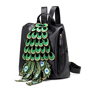 Women's Bags PU Backpack for Casual Outdoor All Seasons Black