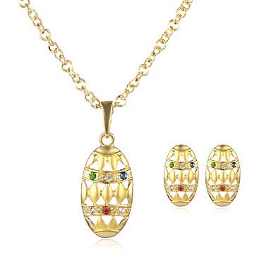 Naisten Korusetti Riipus-kaulakorut - Gold Plated Kulta