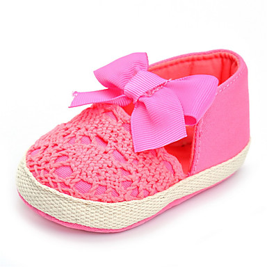 Girls' Shoes Fabric Spring / Fall Comfort Flats Bowknot for Fuchsia / Wedding / Party & Evening