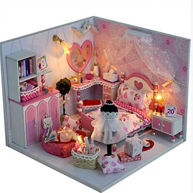 Dukkehus Toy kjøkken sett Liksomspill Girl Doll Dukker Leketøy GDS Hus Plastikker Klassisk Deler Unisex Gave