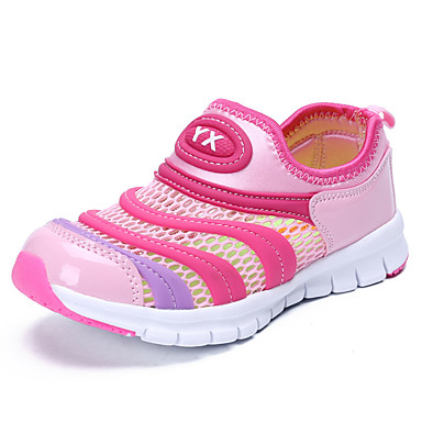 Poikien kengät PU Kevät Syksy Comfort Urheilukengät varten ulko- Musta Punainen Sininen Pinkki