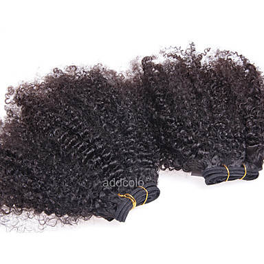 Brazilian Hair Afro / Kinky Curly Human Hair Natural Color Hair Weaves Human Hair Weaves Human Hair Extensions