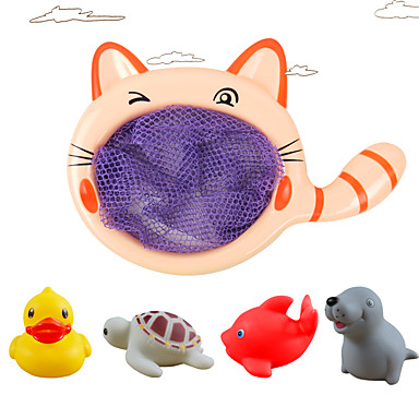 Water Toy Bath Toy Fishing Toys Toys Circular Duck Fish Plastics 1 Pieces Children's Gift