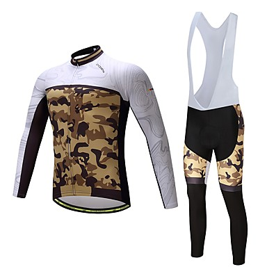 Long Sleeves Cycling Jersey with Bib Tights Bike Clothing Suits, Quick Dry, Spring, Polyester Spandex Lycra Silicon
