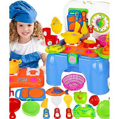 Toy Kitchen Asettaa Toy Astiat ja tee setit Lasten Ruoanvalmistus Muuttumisleikit Lelut Hauska Muovit Lasten Pieces
