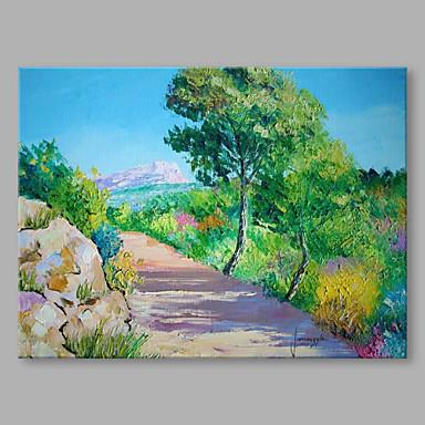 Pintados à mão Paisagem Horizontal, Abstracto Moderno/Contemporâneo Tela de pintura Pintura a Óleo Decoração para casa 1 Painel