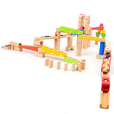 Marble Track Set Marble Run Building Toy Toys 3D Wood High Quality 1pcs Pieces Kid's Boys' Christmas Children's Day Gift