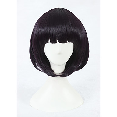 Synthetic Wig Synthetic Hair Purple Wig Women's Short Capless Purple